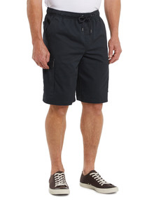 Chisel Elastic Waist Cargo Short, Charcoal product photo