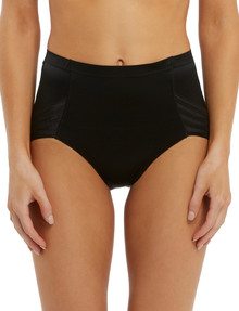 Lyric High-Cut Shaping Brief, Stripe, Black product photo