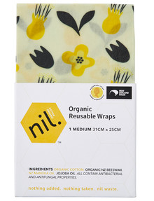 NIL Beeswax Wrap, Medium, Flower product photo