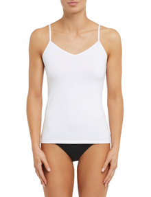 Lyric Cotton 2-Way Cami Top, White product photo