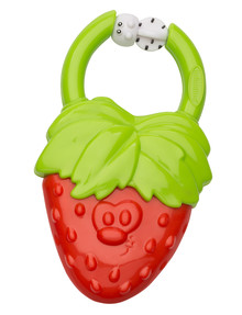 Infantino Vibrating Teether, Strawberry product photo
