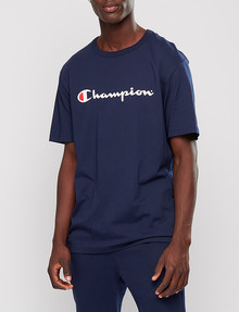 Champion Script Tee, Dark Blue product photo