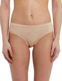 Lyric Jacquard Bikini Brief, Nude product photo