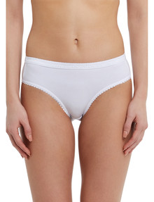 Lyric Jacquard Bikini Brief, White product photo