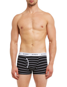 Bonds Guyfront Trunk, 3-Pack, Stripe & Plain, Black product photo