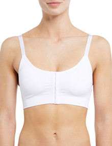 Lyric Seamfree Front Fastening Bra, White product photo