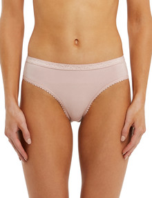 Lyric Jacquard Bikini Brief, Dusty Pink product photo