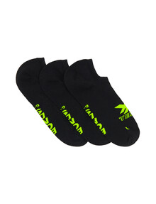 Bonds X-Temp No-Show Sock, 3-Pack, Black product photo