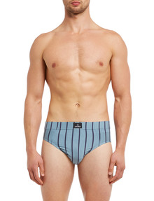 Jockey Sports Stripe Brief, Grey & Black product photo