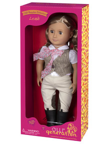 Our Generation Leah Riding Doll with Tweed Vest product photo