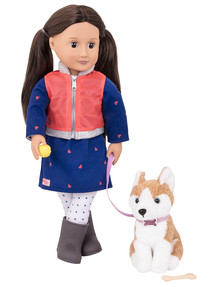 Our Generation Leslie Doll with Pet Dog product photo