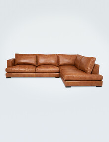Luca Jenson 3-Seater Sofa with Right-Hand Corner Chaise, Cognac product photo