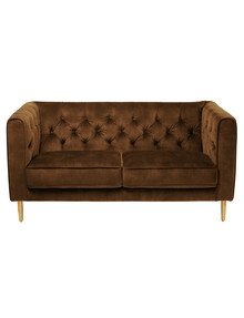 Marcello&Co Cleo 2 Seater Sofa, Velvet Gold product photo