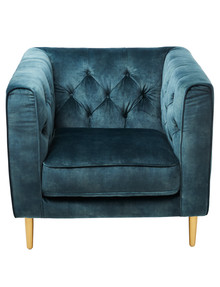 Marcello&Co Cleo Chair, Velvet Petrol product photo