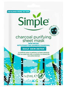 Simple Daily Skin Detox Charcoal Purifying Sheet Mask product photo