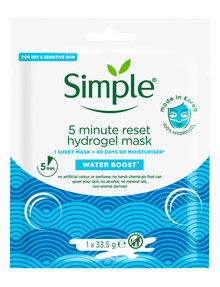 Simple Water Boost 5 Minute Reset Hydrogel Mask product photo