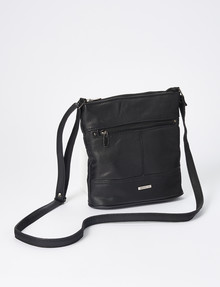 Milano Zip Bucket Bag, Black product photo