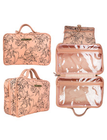 Tender Love + Carry Hanging Toiletry Bag, Blush Lily product photo