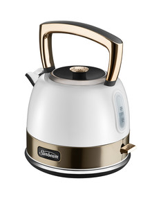 Sunbeam New York Pot Kettle, White & Gold, KE4410WG product photo