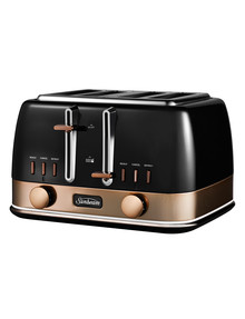Sunbeam New York 4 Slice Toaster, Black & Bronze, TA4440KB product photo