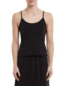 Lyric Microfibre Cami Top, Black product photo