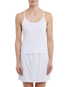Lyric Microfibre Cami Top, White product photo