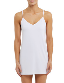 Lyric Microfibre Slip, Tunic Length, White product photo