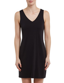 Lyric Microfibre Tank Slip, Black product photo