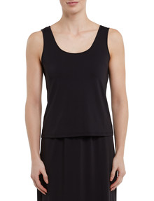 Lyric Microfibre Tank Top, Black product photo