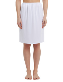 Lyric Microfibre Half Slip, Long-Length, White product photo