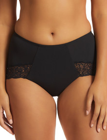Perfects Next level Full Brief Firming Micro&Lace Brief, Black product photo
