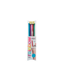 Joie Impulse 4-Piece Rainbow Milkshake Straws product photo