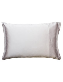 Simply Essential Satin Pillow Slip, Silver product photo