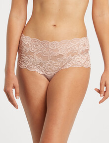 Lyric Boyleg Bandeau Floral Lace Brief, Dusty Pink product photo