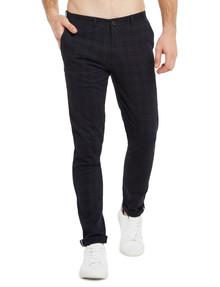Gasoline Spitalfields Check Slim-Fit Chino Pant, Navy product photo