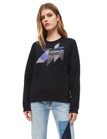 Calvin Klein Graphic Quilt Sweatshirt, Black product photo