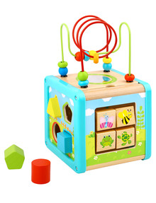Tooky Toy Wooden Play Cube product photo