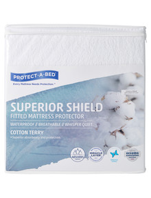 Protect-A-Bed Superior Shield Cotton Terry Mattress Protector product photo
