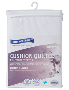 Protect-A-Bed Cushion Quilted Cotton Pillow Protector product photo