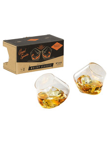 Gentlemen's Hardware Rocking Whisky Glasses, Set-of-2 product photo