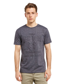 Tarnish Embossed NYC Tee, Blue Marle product photo