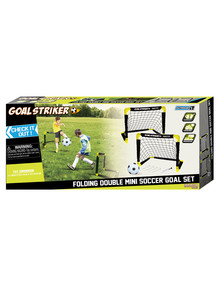 INNOV8 Folding Double Mini Soccer Goals product photo