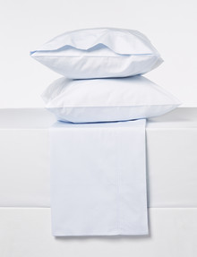 Sheridan 300 Thread Count Organic Cotton Sheet Set, Soft Blue, King product photo