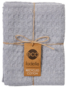 Ladelle Eco Tea Towels, Set-of-2, Light Grey product photo