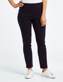 Ella J Pull-On Bengaline Pant, Navy product photo