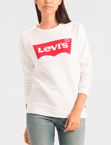 Levis Relaxed Graphic Crew Sweatshirt, Batwing White product photo
