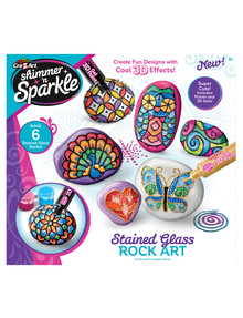 3D Shimmer & Sparkle Stained Glass Rock Art product photo