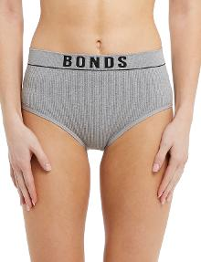 Bonds Retro Rib Hi-Hi Brief, Grey Marle product photo