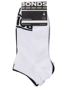 Bonds 100 New Era Trainer Sock, 4-Pack, Black, White & Grey product photo