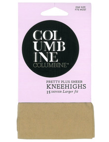 Columbine Plus Knee-High Tight, 15D, Silk product photo